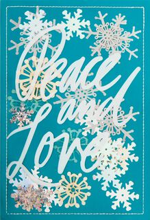 Peace and Love Christmas Card,