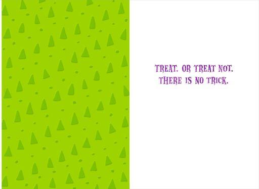 itty bittys® Yoda™ Only Treats Halloween Card,