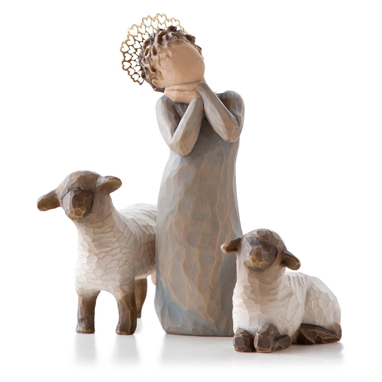 Willow Tree Christmas Nativity Little Shepherdess Figurine Set 26442 in Gift Box