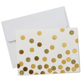 Gold Confetti Note Cards, Pack of 10, , large