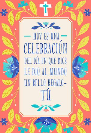 A Wonderful Woman Spanish-Language Religious Birthday Card