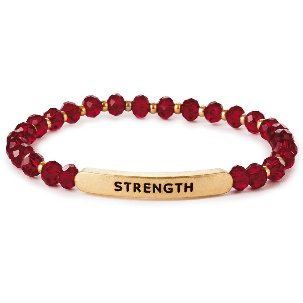 Strength Gl Bead Stretch Bracelet