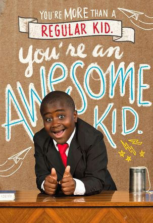 Kid President Time to Shine Just Because Kid's Card
