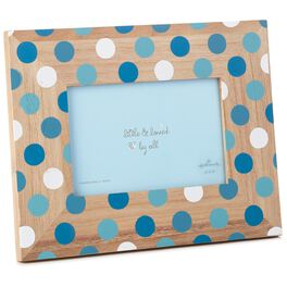 Blue Polka Dot Picture Frame, 4x6, , large