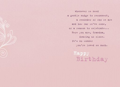 Strong and Beautiful Grandma Birthday Card,