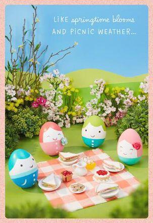 Egg Faces Family Easter Card