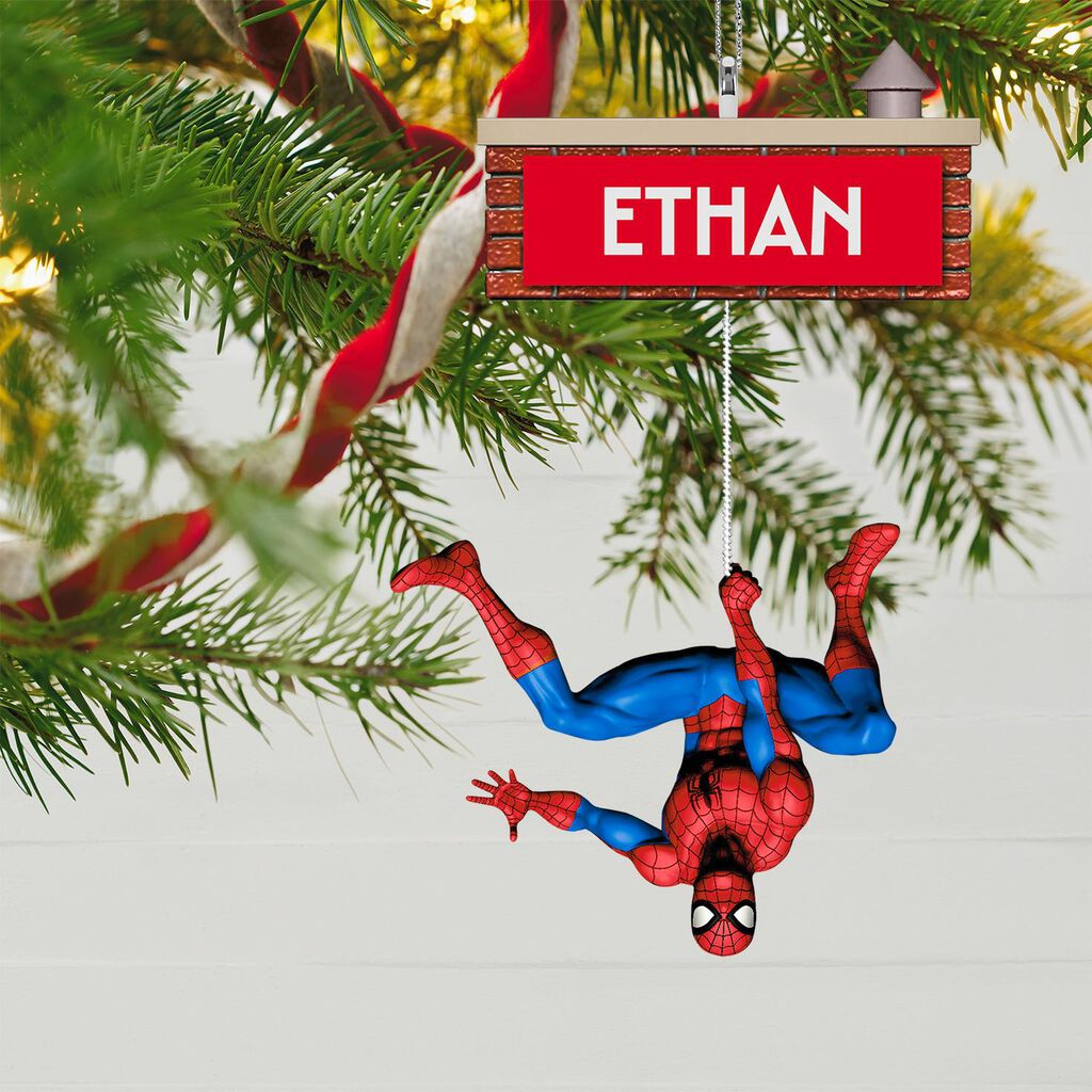 Spiderman Christmas.Spider Man Personalized Ornament