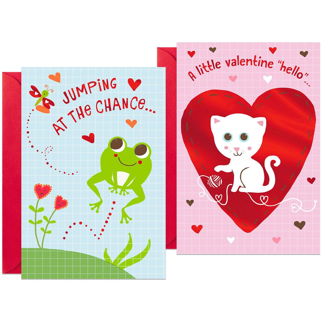 Children S Valentine S Day Card Assortment Pack Of 6 Boxed Cards
