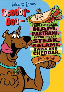 Scooby-Doo Sandwich Birthday Card,