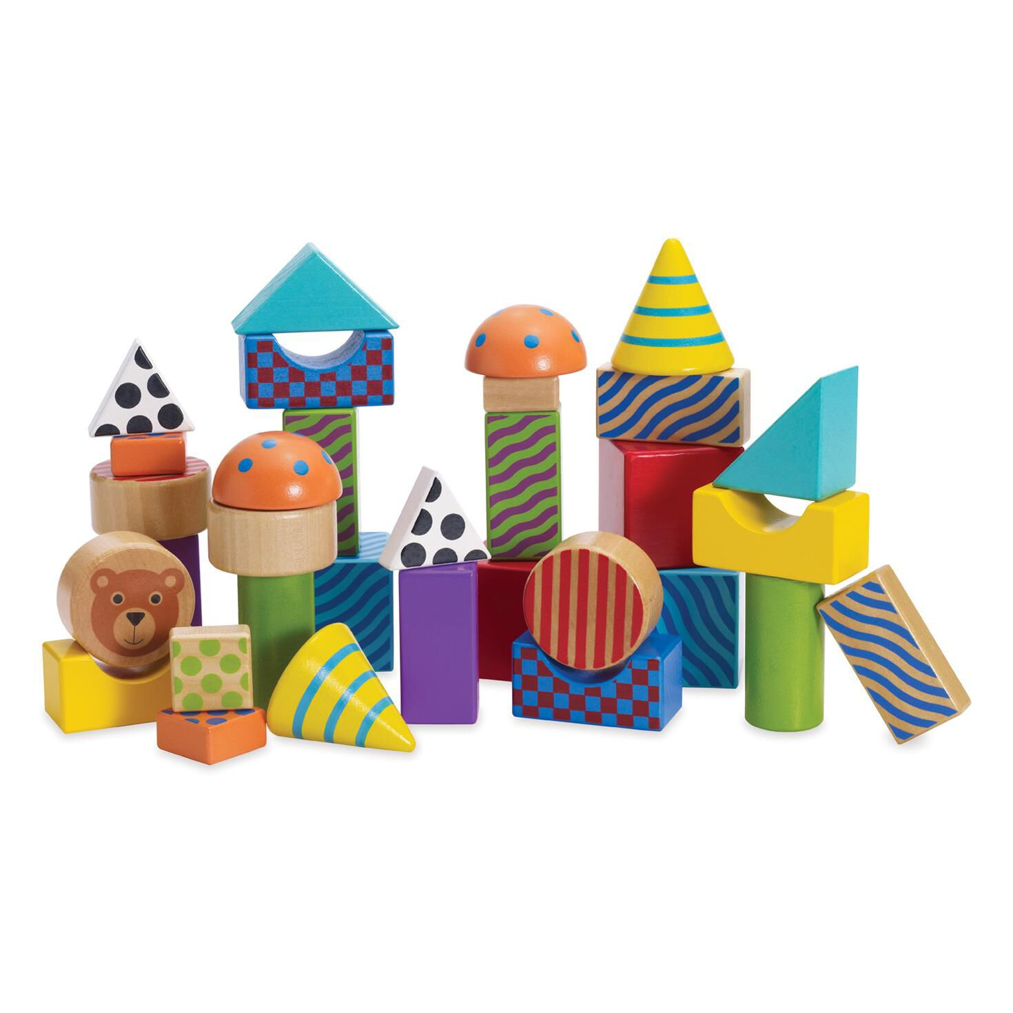 Create and Play Patterned Wood Blocks Baby & Toddler Toys Hallmark