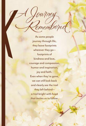 White Floral Religious Sympathy Card