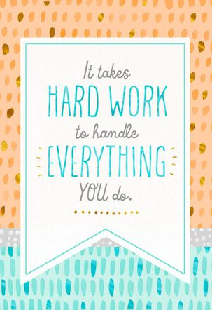 All Your Hard Work Admin Professionals Day Card