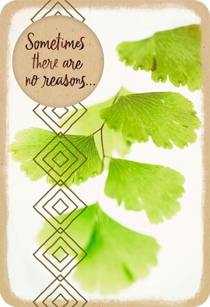 Gingko Leaves Only Caring Thinking of You Card