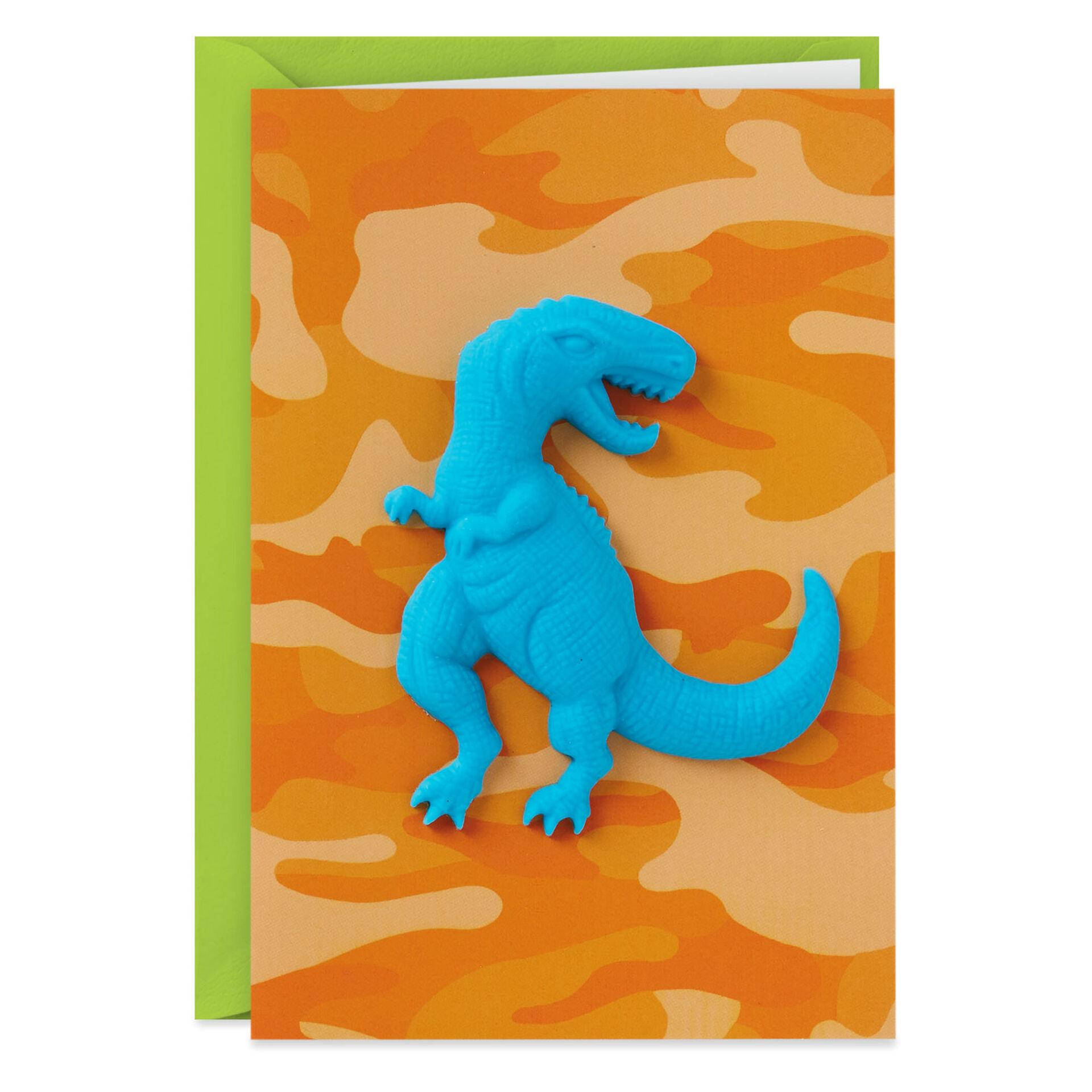 cute magnet keepsake gift card. Birthday card Dinosaur Magnet Card