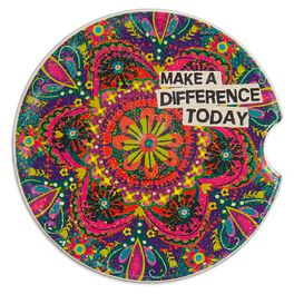 Natural Life Car Coaster Make a Difference Today, , large