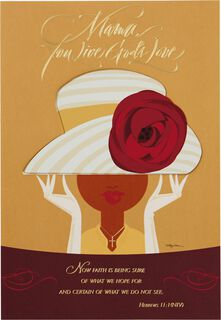 Sunday Hat Religious Mother's Day Card,