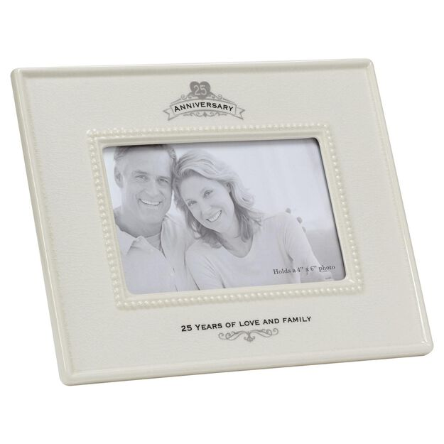 Silver Wedding Anniversary Picture Frame