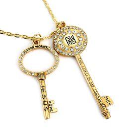 Good Work(s) Infinite Jesus Keys Necklace, Silver, large
