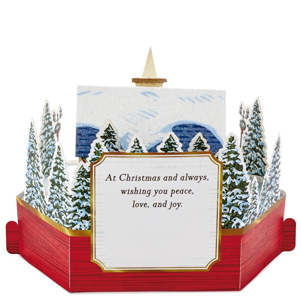 Blessings to You Church Mini Pop Up Christmas Card - Greeting Cards ...