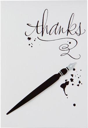Calligraphy Pen Thank You Card
