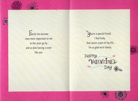 Sister Forever Friend Valentines Day Card Greeting Cards – Valentines Day Friend Card