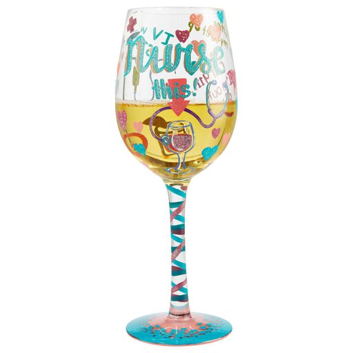 hand crafted LOVE wine glasses