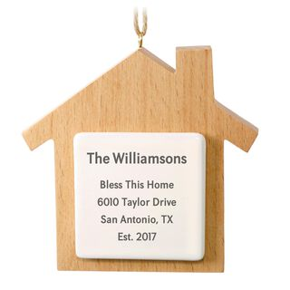 Wood Home Personalized Ornament,