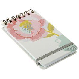 Gold Stem Floral Steno Notebook, , large