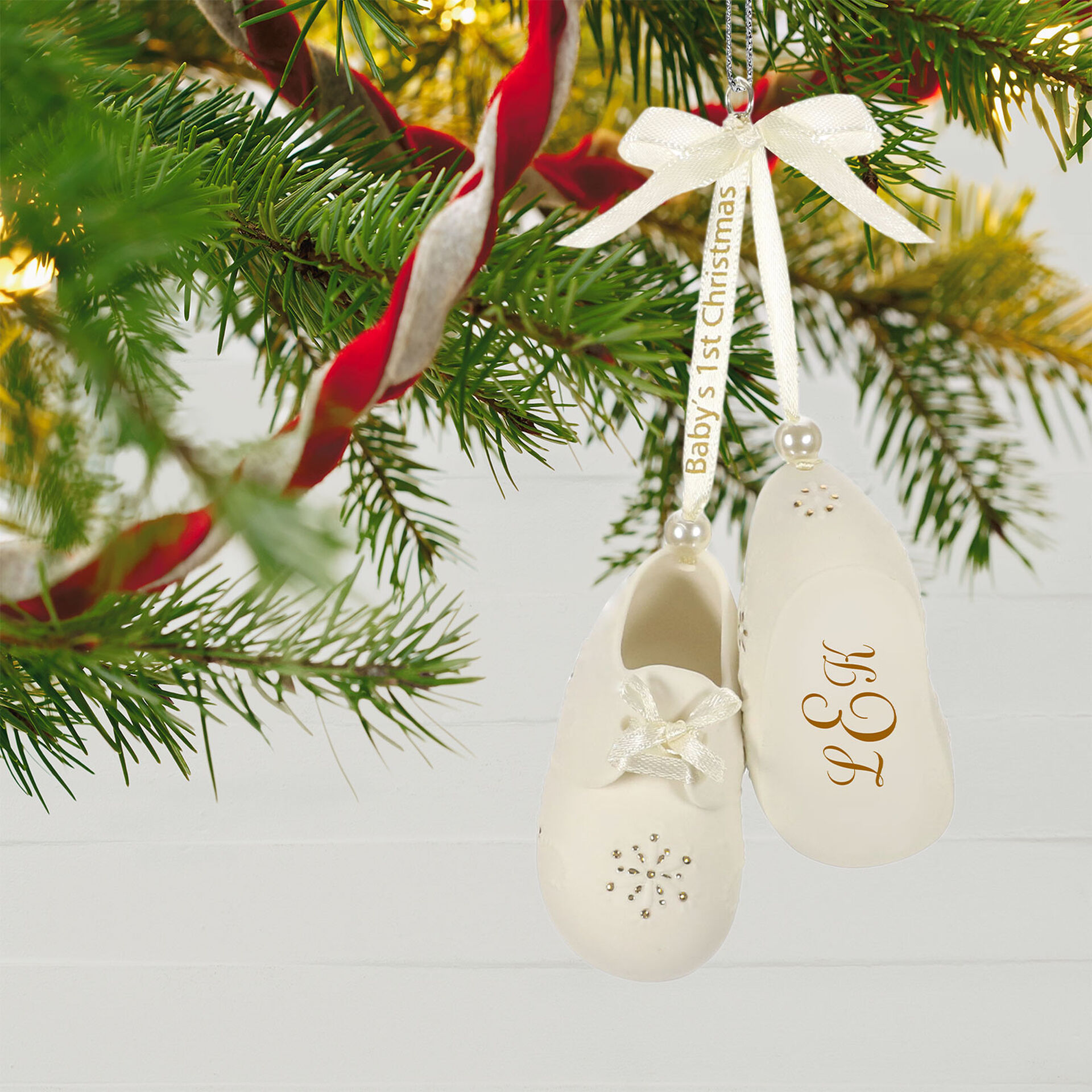 2013 Hallmark Our First Christmas Picture Christmas Tree Ornament New