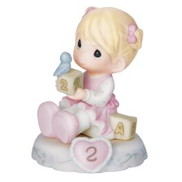 Precious Moments® Growing in Grace Blonde Hair Girl Figurine, Age 2, , large