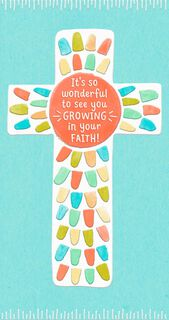 Growing in Faith Religious Money Holder First Communion Card,