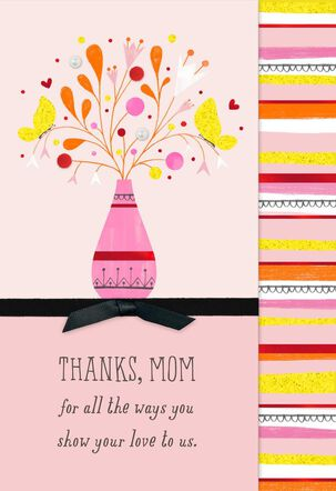 Thank-You Bouquet Mother's Day Card from Us