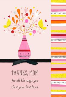 Thank-You Bouquet Mother's Day Card from Us,