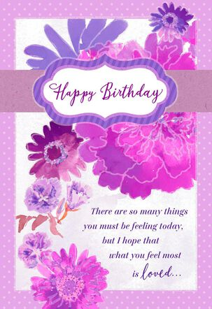You Are Loved Watercolor Birthday Card