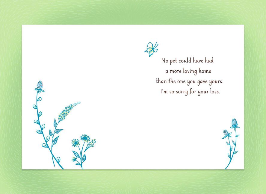 a loving home sympathy card for loss of dog greeting cards hallmark
