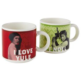Star Wars™ Holiday Han Solo™ and Princess Leia™ Mug Set, , large
