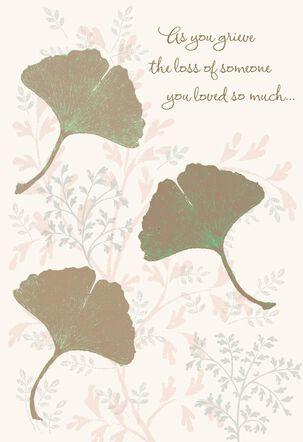 Ginkgo Leaves Sympathy Card