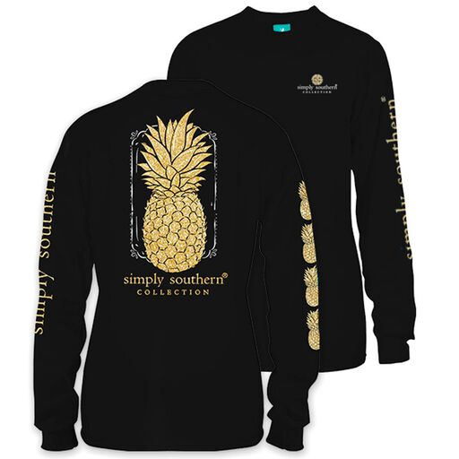05ad4459b4900 Simply Southern Women s Pineapple Long Sleeve T-Shirt