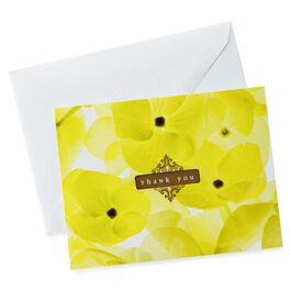 Yellow Floral Thank You Notes, Pack of 10, , large