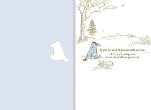 Winnie the Pooh Characters Goodbye Card From Group,