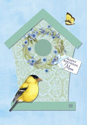 Bastin Birdhouse Mom Birthday Card