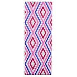 Diamond-patterned Raspberry/Purple/White Tissue Paper, , large