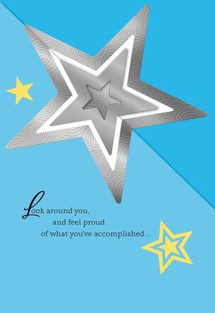 Silver Stars College Graduation Card
