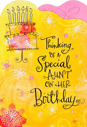 Thinking Of You Birthday Card For Aunt