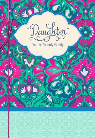 """Welcome """"Daughter"""" Wedding Card"""
