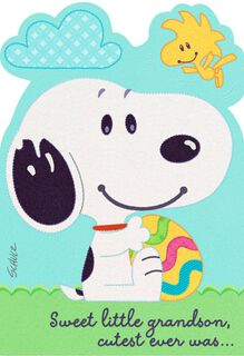 Peanuts® Snoopy and Woodstock Card For Grandson's First Easter,