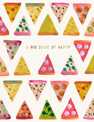 Pizza Slice of Happy Birthday Card