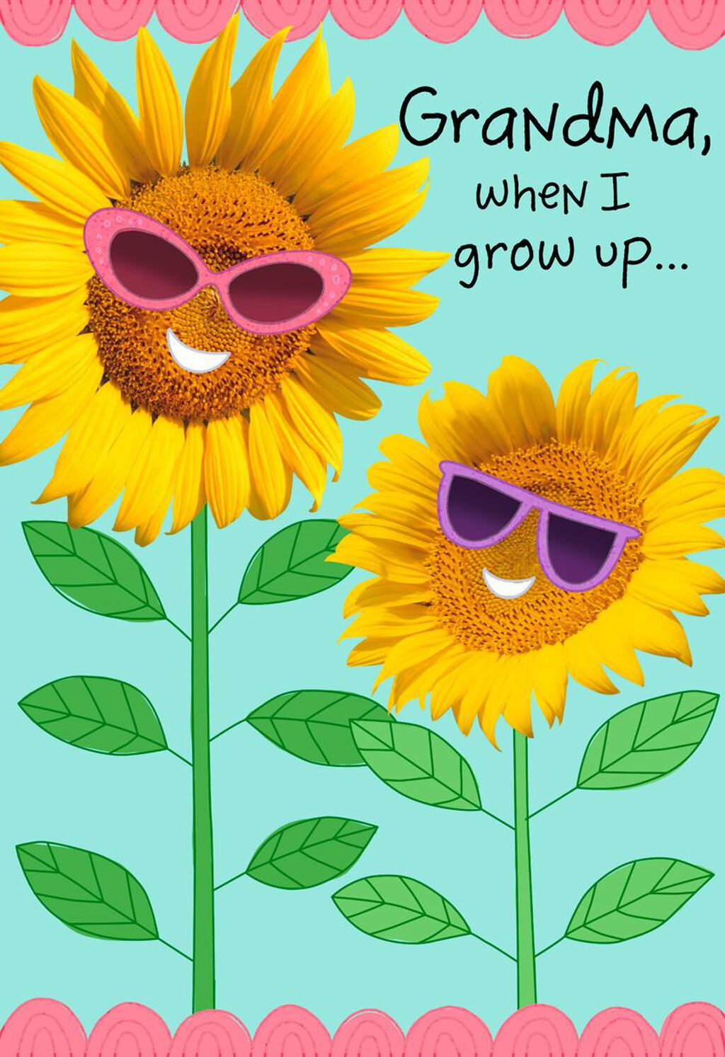 Sunflower Shades Grandparents Day Card For Grandma Greeting Cards