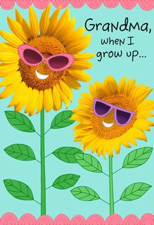 Sunflower Shades Grandparents Day Card for Grandma,
