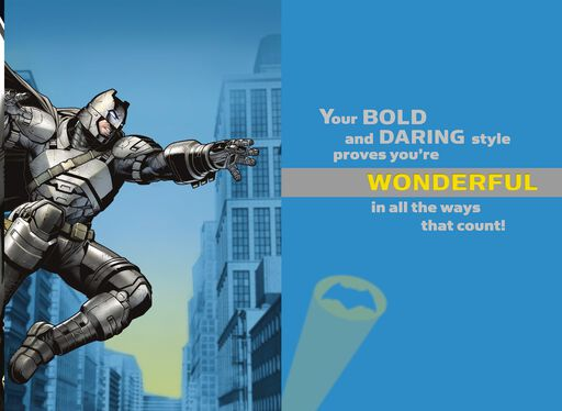 Batman™ You're Bold and Daring Card With Backpack Clip,
